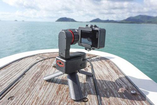 FeiyuTech WG2 Waterproof wearable gimbal mounted on tripod