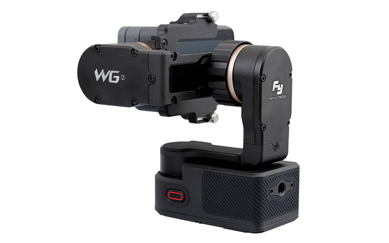 Feiyu-Tech WG2 Gimbal Rear view of power button and battery