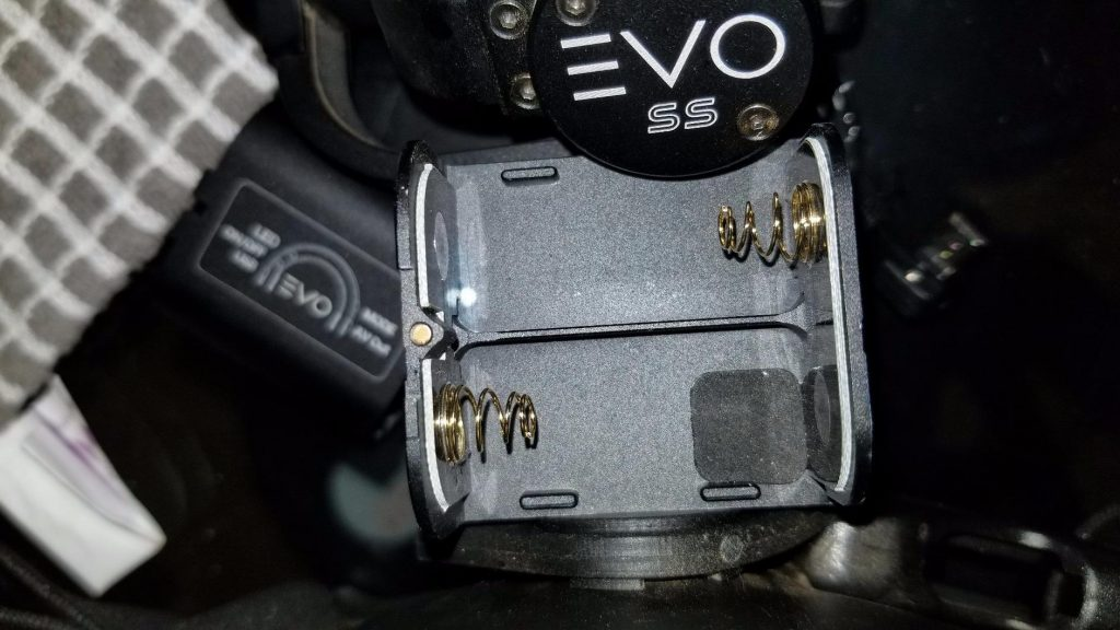 EVO SS gopro gimbal battery compartment