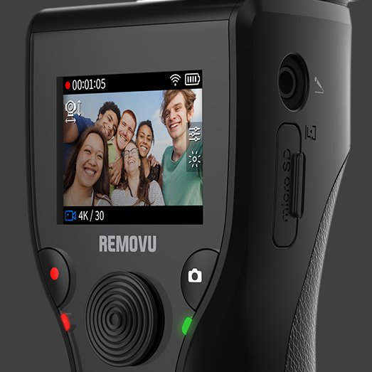 REMOVU K1 All-In-One Stabilizer Controls & LED Screen
