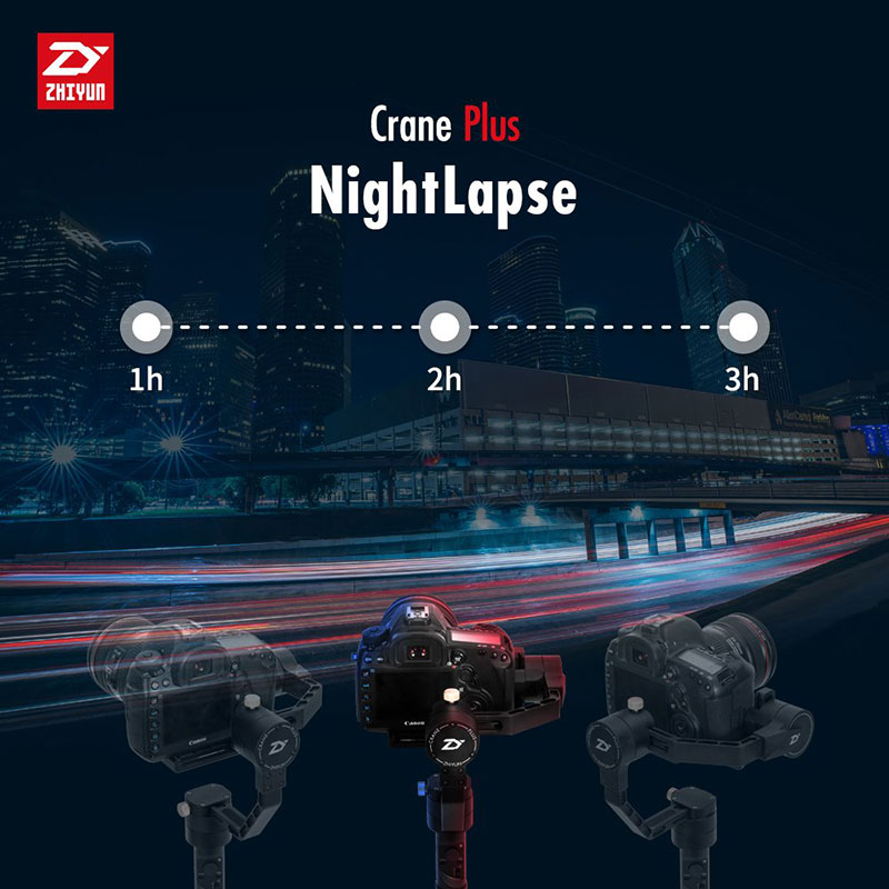 Zhiyun Crane Plus Night lapse promo image